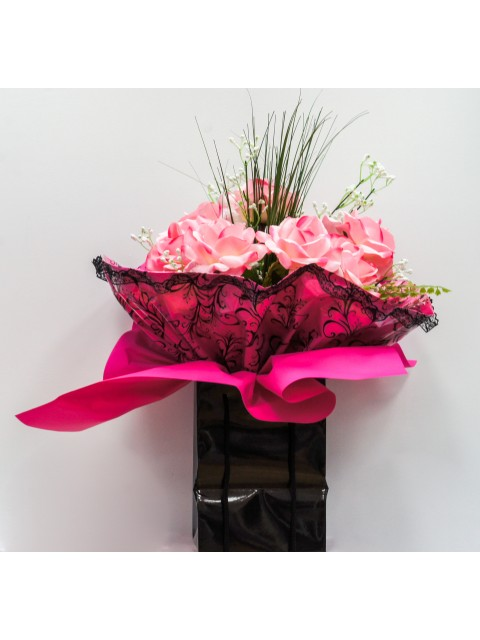 Pink Roses In A Bag