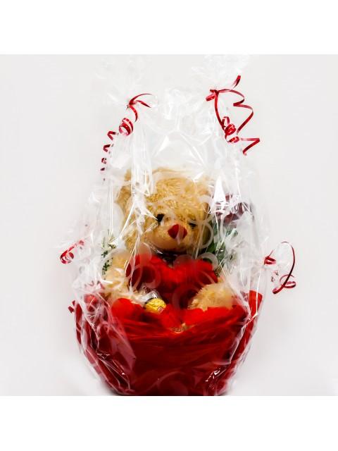 Teddy Bear Basket With Chocolate
